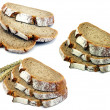 A selection of sliced brown bread — Stock Photo