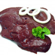 Slices of fresh liver — Stock Photo
