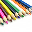 A selection of colouring pencils — Stock Photo