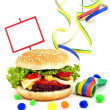 Stock Photo: Cheeseburger party food scene