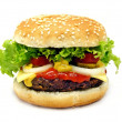 Cheeseburger isolated on white background - ストック写真