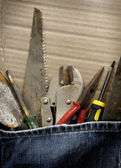 Tools jeans — Stock Photo