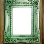 Antique Frame On Wood — Stock Photo