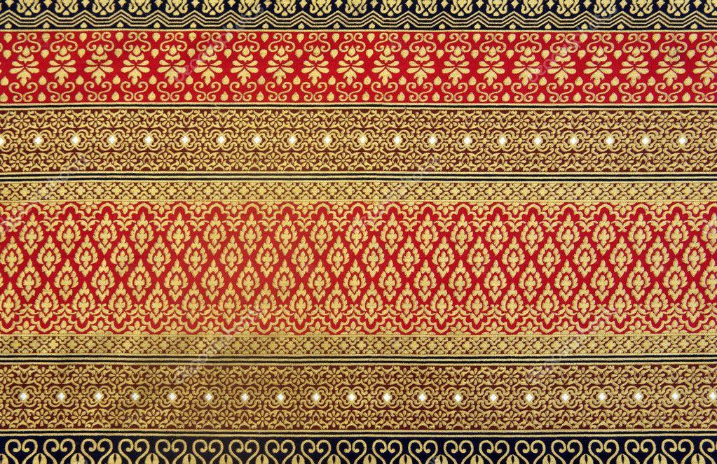thai stoff muster stockfoto kris 4471323. Black Bedroom Furniture Sets. Home Design Ideas