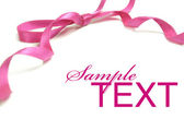 Pink ribbon — Stock Photo