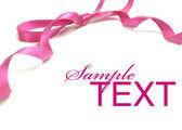 Růžová stuha. — Stock fotografie