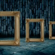 Gold frame dark room — Stock Photo #4656852
