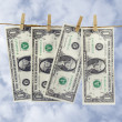 Stock Photo: Dollar paper hang