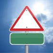 Triangle traffic sign — Stock Photo