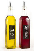 Olive Oil and Vinigar — Stock Photo