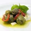 Stock Photo: Olives and Feta