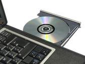 CDROM Tray on Laptop — Stock Photo