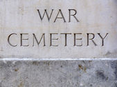 War Cemetery Plaque — Stock Photo