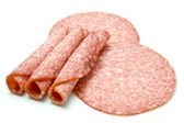 Slices of Salami — Stock Photo