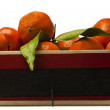 Royalty-Free Stock Photo: Oranges in a crate with copyspace