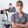 Bussines woman wth her associates — Stock Photo #4371506