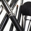 Detail of a random composition with make-up brushes — Stock Photo #4372308