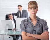 Bussines woman wth her associates — Stock Photo