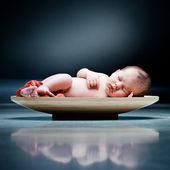 Slapende baby — Stockfoto