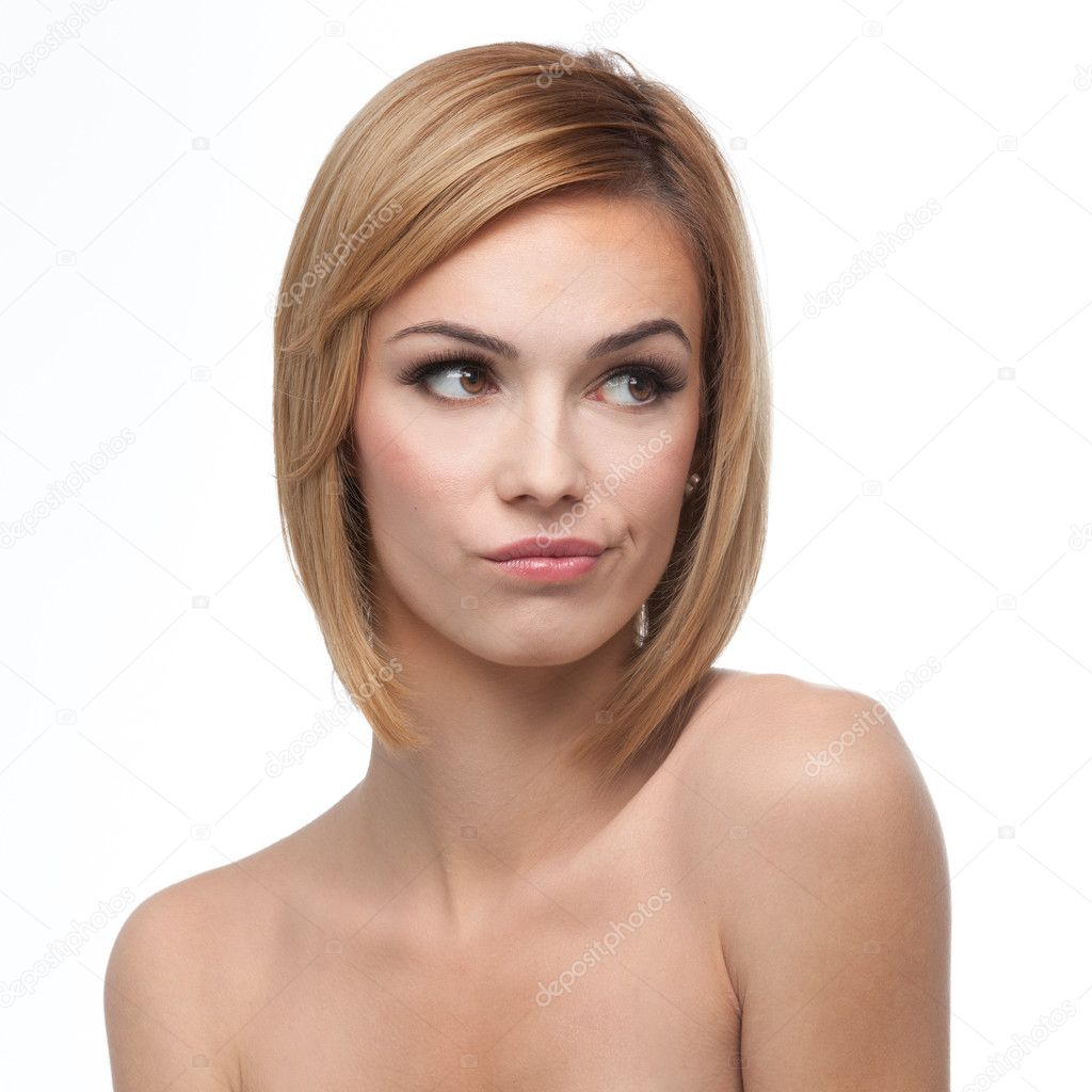 woman looking right