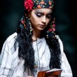 A portrait of a gypsy fortune teller. - Stock Photo