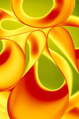Macro background picture curved twisted sheets of paper, yellow, — Stock Photo