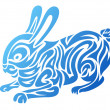 Stock Vector: Stylized Rabbit