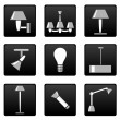 Stock Vector: Vector lamp icons set