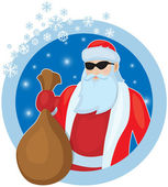 Father Frost with Christmas gifts — Stock Vector