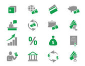 Bank and finance icons set — Stock Vector