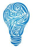 Creative lamp — Stock Vector