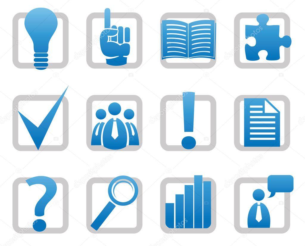 媒体和信息图标-矢量图标集— 矢量图片作者 dimoza