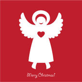 Christmas-angel — Stock Vector