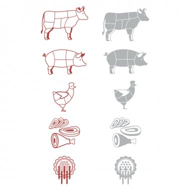 Signs-icons meat