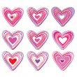 Set-of-hearts — Stock Vector #4841603
