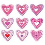 Set-of-hearts — Stock Vector #4841603