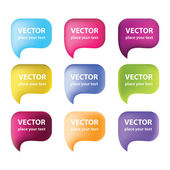 Vector-bubbles-for-speech — Stock Vector
