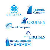Travel-cruises — Stock Vector