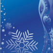 Royalty-Free Stock Vector Image: Background with a blue snowflake