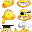 Set of funny smiles. — Stock Vector