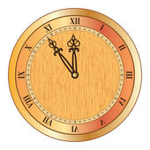 Old clock — Stock Vector