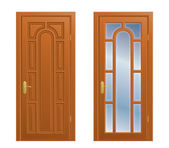 Closed door — Stock Vector