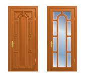 Closed door — Stock Vector