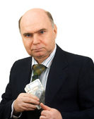Man hand pocket money — Stock Photo