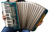 Music instrument accordion — Stock Photo
