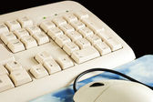 Computer keyboard mouse — Stock Photo