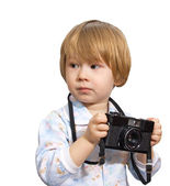 Ittle baby camera hobby — Stock Photo