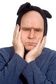 Hombre que sufre la mueca de dolor de muelas — Foto de Stock