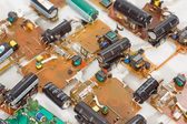 Background boards with electronic components — Stock Photo