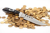 Gold hoard wealth — Stock Photo